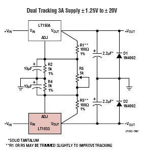 voltage regulator circuits electronics tutorial and schematics dual tracking power supply